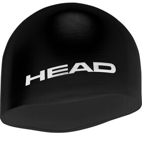 Head Silicone Moulded Swimcap Black